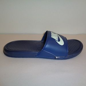 Nike Size 10 BENASSI JDI Navy Slides New Sandals